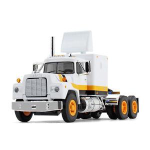 1:64 FIRST GEAR DCP *WHITE & ORANGE* Mack R-Model Semi Truck w/Sleeper *NIB*