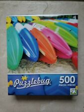 Puzzlebug Puzzle Colorful Beach Kayaks 500 Pieces Sealed 2016