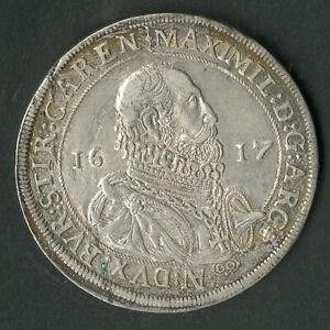 Austria Coin 1617 Maximilian Silver Thaler NO RESERVE!