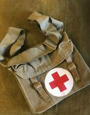 WW2 British webbing Red Cross Medical bag