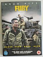 Fury (DVD, 2015) American War Film, Brad Pitt, Region 2