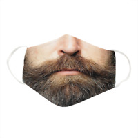 Beard Guy Mustache Face - Funny - Reusable - Unisex Cotton Face Mask_ Marvel