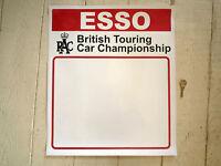 Esso RAC British Touring Car Championship DOOR PANEL STICKERS Race Car Racing