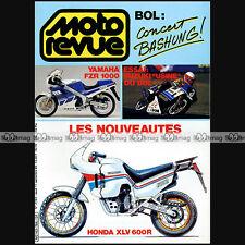 MOTO REVUE N°2764 KAWASAKI KX 125 & 500 SUZUKI RM HONDA VT 500 E BASHUNG 1986