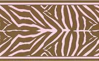 Pink & Brown Zebra Skin Peel & Stick Wallpaper Border QA4W0507