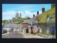 Corfe Castle and Village c1970's Postcard (P235)