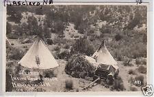 RPPC - Mescalero, NM - Apache Teepees on Reservation - 1920s era