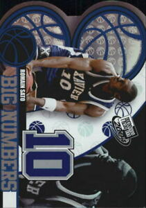 2004 Press Pass Basketball Big Numbers #BN21 Romain Sato Xavier Musketeers