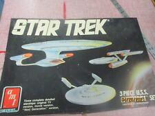 Star Trek 3 Piece U.S.S. Enterprise Set Model Kit Amt