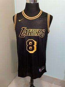 NBA Mens Los Angeles Lakers #8/24 Kobe Bryant Black Snakeskin Basketball Jersey