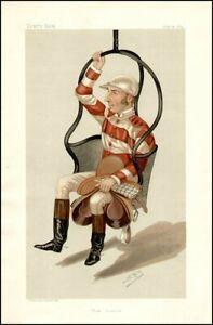 Vanity Fair Print Caricature Tom Cannon Jockeys Vintage Repro Horse Racing