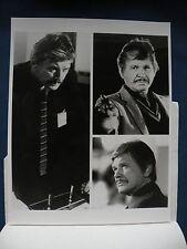 Telefon Charles Bronson 8X10 B&W movie photo w/TV release letter 12317175