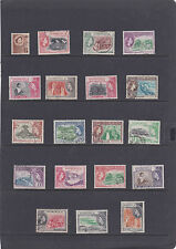 DOMINICA  1954 PICTORIAL SET  SG.140-158 FINE USED