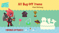 COMPLETE Bug Off Rewards Item Set: Animal Crossings New Horizons