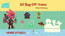 COMPLETE Bug Off Rewards Item Set: Animal Crossings New Horizons