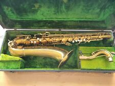 1936 Conn 10M Tenor Saxophone Naked Lady Rolled Holes PROFESSIONALLY OVERHAULED!