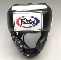 Fairtex HG10 Headgear Head Guard Super Sparring Black & White
