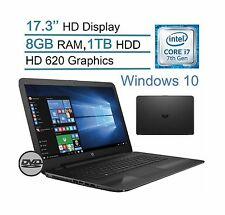 HP 17.3-inch HD (1600x900) WLED-backlit Display Laptop PC Intel Core i7-7... New