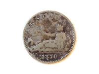 Moneda 50 Céntimos, Gobierno Provisional, 1870