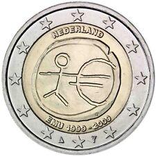 Niederlande 2 Euro 2009 WWU EMU 10 Jahre Wirtschaft und Währungsunion bankfrisch
