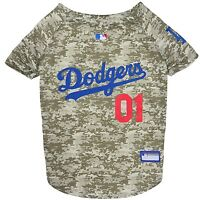 Los Angeles Dodgers MLB Officially Licensed Dog Pet Camo Jersey Sizes XS-XL