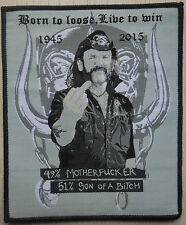 motorhead lemmy tribute missprinted patch / aufnaher limited edition!!!