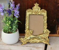 Antique French art nouveau lion picture photo frame