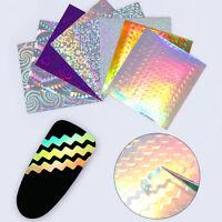 8Sheets Adhesive Holo 3D Nail Sticker Ultra Thin Wave Line Nail Foil Born Pretty
