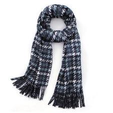 Women Houndstooth Plaid Scarf Cashmere Feel Winter Warm Tartan Blanket Wraps