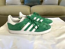 New listing Mens ADIDAS GAZELLE Green Suede Shoes Size 8