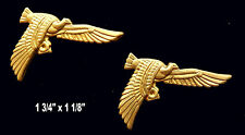 Vintage Brass Stamping / Ibis Famous Bird  /Egyptian Revival / Set of 2 pcs.