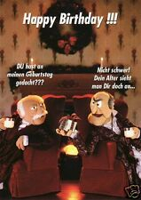 "Geburtstagskarte, Postkarte, Die Muppets - Statler and Waldorf ""Happy Birthday"""