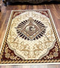 Masonic Woven Wall Tapestry Area Rug Ring Apron Freemason Lodge Knights Templar