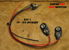 TONE MONSTER BAT-2 SBK Preamp Upgrade Switchable 9/18V Power Active Guitar Bass