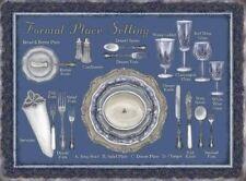 Formelle couverts-couverts verres assiettes tableau étain signe plaque métallique 60