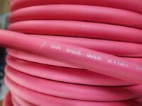 2 AWG SGX RED AUTOMOTIVE WIRE - HIGH TEMP - MADE IN USA - 25 FEET