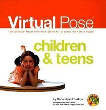 NEW Virtual Pose Children & Teens Mario Henri Chakkour Hardcover Art Book CD
