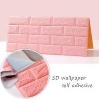 3D Brick Stone Self-adhesive Wall Stickers Waterproof Foam Home Decor