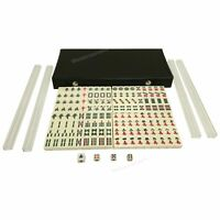 Portable Mahjong Set 144 Tiles Mah-jong with Case Dices indicator Game All Set