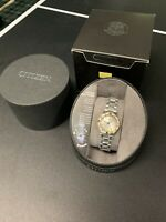 Citizen Ladies EM0834-51A Eco-Drive Diamond Accented Two Tone SS Watch