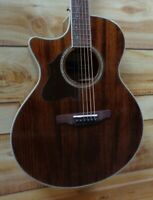 New Ibanez AE245L Left Handed Acoustic Electric Guitar Solid Okoume Top Natural