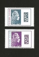 2018  Timbres MARIANNE N° 5270 + 5271 Surchagées Europe + Monde NEUFS ** LUXE