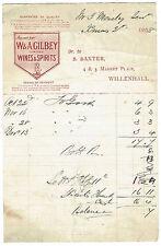 1898 Billhead - W.Gilbey, Wine Seller of Willenhall, West Midlands