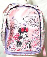 Disney Parks Minnie Mouse & Figaro Pastel Pink & Purple Reversible Backpack