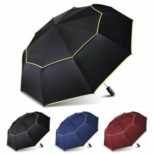 Big Umbrella 120cm Fully-Automatic Double Rain Folding Wind Resistant Umbrella