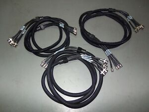 Lot of 3 Pieces PCS 6' Foot BNC to Mini BNC Coax SDI Cables Braided Flex