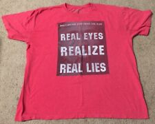"Rare Mens Tupac Vintage T-Shirt "" Real Eyes Realize Real Lies"" - Red, Size Xl"