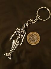 Skull Skeleton Mermaid Key Ring Key Chain TIBETAN SILVER LARGE