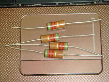4 X MADE IN JAPAN RIKEN OHM RM2 510R 510 OHM 5% 2W AUDIO GRADE CARBON RESISTOR
