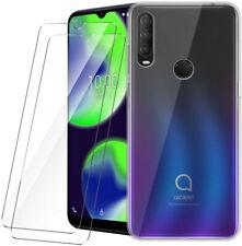 Clear Tpu Case Tempered Glass Screen Protector For Alcatel 3X 3L 1V 3V 2019 1SE